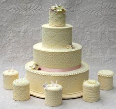 #WeddingCake with #MiniWeddingCakes - Find a #Fresno Wedding Cake Bakery At: www.FresnoWeddings.Net