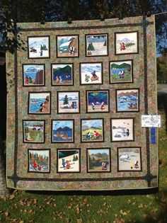 Embroidered Quilt On 24 Blocks Sept 6