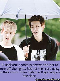 Idk if this is true about Sehun and the door but AHHHH BAEKYEOL even loud off camera