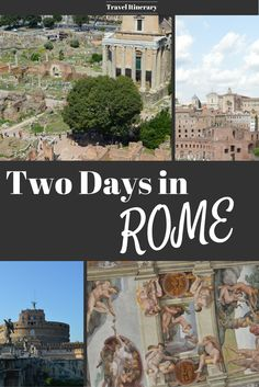 What to see and do if you have only two days to spend in Rome, Italy. A itinerary for your two days with maps. asoutherntraveler.com