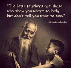 The best teachers are those who show you where to look, but don't tell you what to see - Alexandra K. Trenfor