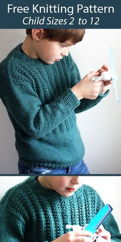 Free Childrens Knitting Patterns, Beanie Knitting Patterns Free, Baby Cardigan Knitting Pattern, Knitting For Kids, Easy Knitting, Knitting Paterns, Knitting Projects, Crochet For Boys, Pullover