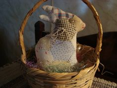 Primitive Old Quilt Rabbit