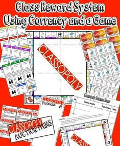 FREE FOR A FEW DAYS ONLY (NEW PRODUCT): A PBIS system with numerous options to keep students motivated and teach important economy skills! Classroom currency is built around collecting game board properties and an optional credit card system with checks/b Monopoly Classroom, Monopoly Theme, School Classroom, Classroom Themes, Future Classroom, Class Reward System, Positive Behavior Support, Positive Feedback, Math Bulletin Boards