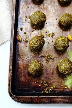 hemp protein matcha energy balls