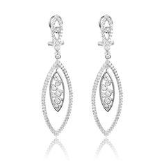 Cercei argint Surub Drop Earrings Zirconii Cod TRSE061