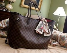 Love Louis Vuitton,Louis Vuitton handbags | See more about louis vuitton, louis vuitton handbags and handbags...love the look with the added scarf :)