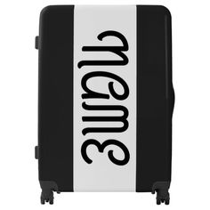 Black and White Personalized Solid Color Luggage
