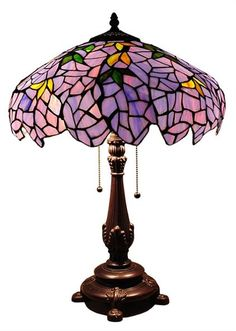 Lilac Wisteria Table Lamp