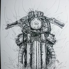 Custom motorcycles & design, Portland OR. Motorcycle Art, Bike Art, Motorcycle Wheels, Art Moto, Cx500 Cafe, Ducati, Honda Cb750, Old Posters, Bike Sketch