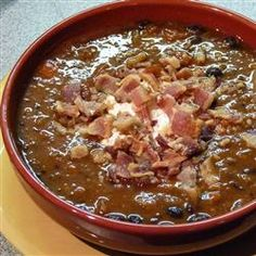 "Black Bean Soup with Bacon | ""I created this for a quick lunch with a ..."