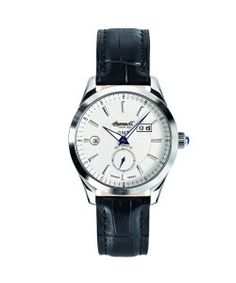 INGERSOLL Automatic Hopkins GMT Black Leather Srtrap (IN8703WH) Ingersoll Watches, Black Leather