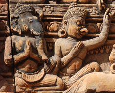 Banteay Srei, Angkor, Siem Reap, Cambodja. Argusvlinder | De avonturen van de Argusvlinder