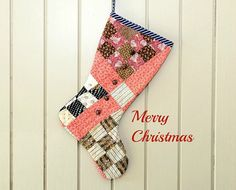Christmas Stocking Vintage Quilt 19th Cent Quilt by CUSHgoods