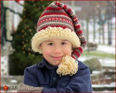9bc2b23b452 Crochet PATTERN - The Snowland Stocking Hat with a Loopy Pom-pom