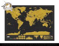 Scratch Map Deluxe Edition / スクラッチ マップ デラックス エディション Luckies / ラッキーズ Black ブラック 世界地図 地図 旅 ポスターDETAIL 【あす楽対応_東海】