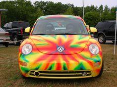 Tye dye vw beetle