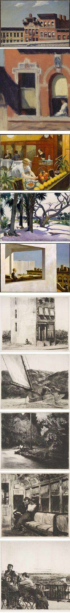 Edward Hopper on Met Museum website http://www.linesandcolors.com/