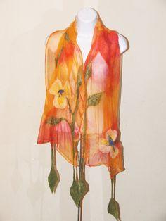 il_570xN.429196500_r0n2 Needle Felting, Wool Felt, Projects To Try, Summer Dresses, Knitting, Women, Fashion, Nuno Felting, Manualidades