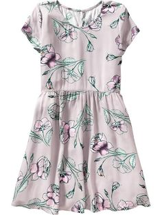 Girls Floral Fit & Flare Dress Product Image