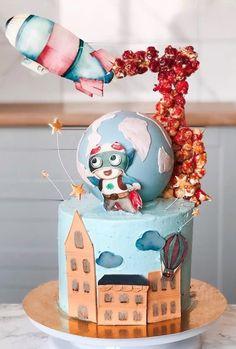 Cake Ideas, Snow Globes, Fondant, Cakes, Baking, Kids, Home Decor, Crack Cake, Bebe