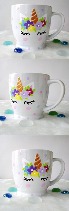 Unicorn Christmas gift small cup Ceramic tea cup coffee cup Gift for her Custom unicorn mugs Unicorn Face Pretty cup Unicorns kids cups