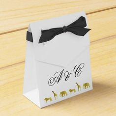 Gold Jungle Animals Party Favor Bags Favor Box - baby shower gifts party giftidea