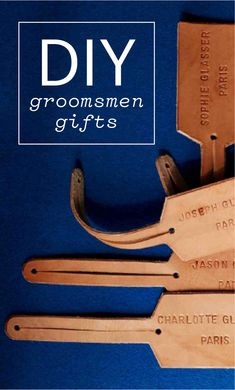 15 DIY Groomsmen Gifts The Guys Will Love   Martha Stewart Weddings - They've had your back and are set to stand with you on the big day. Thank them by bestowing a present you put some muscle into.