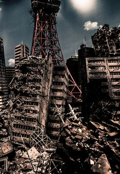 Collapsed Tokyo by Hideaki Anno at Museum of Contemporary Art Tokyo Exhibition Gallery, 2012..