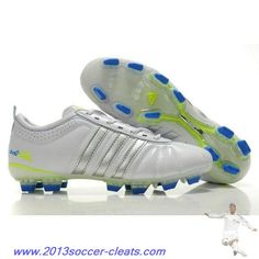 new style 82726 4981c Cheap Adidas Adipure IV Trx FG Cleat White Silver Blue For Sale Soccer Boots,  Football