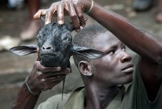 """"""""""" photo by: rafael fabres Voodoo practitioners make take part in a ritual at the Plaine du Nord """" KAM """""""