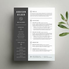 Resume Template and Cover Letter Template for Word | Digital Instant Download…