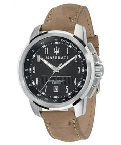 a503c5024ac5 Features  Stainless Steel Case Leather Strap Quartz Movement Caliber   VJ42B12 Mineral Crystal Black Dial