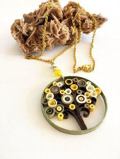 collana di carta quilling Albero della vita