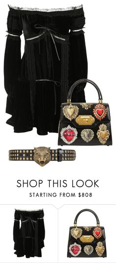 """i am glad that you all talk bout me all the time, i am glad that he set you up like this, but for now kindly go and f yourself ....."" by awewa ❤ liked on Polyvore featuring Wandering, Dolce&Gabbana and Gucci"