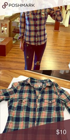 Long sleeve blouse Long sleeve plaid button down Old Navy Tops Button Down Shirts