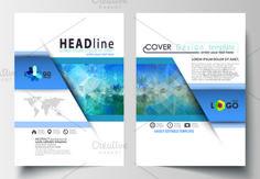 A4 format brochures v.3, abstract design brochure by VectorShop on @creativemarket