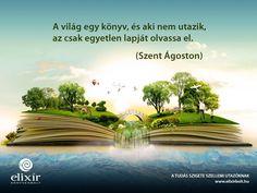 Szent Ágoston idézet az utazásról. A kép forrása: Elixír Könyvesbolt