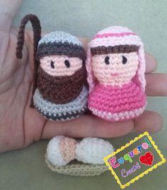 Nativity set - Presépio pequeno feito em crochê