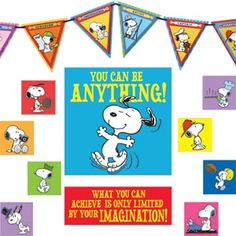 SNOOPY <3! Peanuts You Can Be Anything Classroom Decor Set