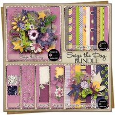 Seize The Day {Bundle} is now available at Go Digital Scrapbooking. This huge bundle contains an add on, cluster pack, glitters, page stackers, an alpha, sprinkles and so much more! Its a must have!