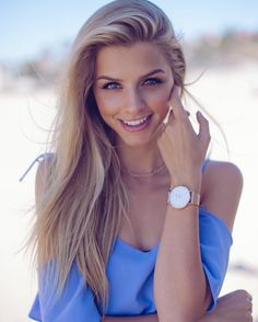 """Marina Laswick on Instagram: """"A @paulvalentinee watch is an easy but pretty way to accessorize any outfit ⏱#paulvalentine"""""""