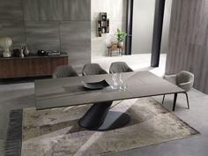 Mesa de comedor moderna / de madera / de metal / rectangular - THOR: T242 by Giulio Manzoni - OZZIO ITALIA - Vídeos