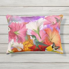 Ad: Hibiscus Butterflies #bird #butterflies #colibri #colorful #digital #flowers #hibiscus #hummingbird #multicolor #nature Accent Pillows, Soft Pillows, Party Hats, Hibiscus, Soft Fabrics, Butterflies, Art Pieces, Make It Yourself, Designer Throw Pillows
