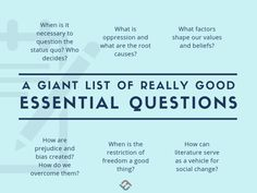 Many, Many Examples Of Essential Questions - Marlene Positive Personality Traits, What Is Freedom, Personal Qualities, Social Order, Research Question, Higher Order Thinking, Essential Questions, Instructional Strategies, Fiction And Nonfiction