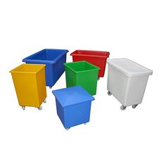 Manufactured from medium density food grade polyethylene. Wheels: 4 x swivel castors fitted with diameter nylon wheels. Container Truck, Plastic Containers, Workplace, Tub, Catalog, Recycling, Trucks, Tools, Bath Tub