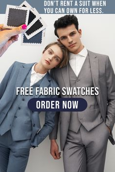 Looking for your Wedding Day look or an outfit for your next black-tie optional event? Order free fabric swatches to compare colors and fabrics without leaving your couch. Rent A Suit, Black Tie Optional, Free Fabric Swatches, Groom Outfit, Groomsman Gifts, Wedding Attire, Our Wedding, Giveaway, Wedding Planning