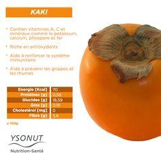 Le #kaki. On l'adore pour sa saveur caractéristique avec une légère touche acide. Jetez un coup d'oeil sur ses #propriétés