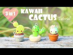 getlinkyoutube.com-Kawaii Cactus│3 in 1 Polymer Clay Tutorial