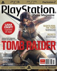 """It seems that the saying """"Print is dead"""" is becoming truer than ever. Today it was revealed, ironically by Game Informer, that PlayStation: The Official Magazine will stop being published after this holiday issue is released. Gaming Magazines, Video Game Magazines, Future Batman, Tomb Raider 2013, Game Informer, Tomb Raider Lara Croft, Future Jobs, Arkham City, Retro Video Games"""